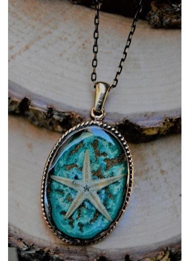 Stoneage Gerçek Gerçek Deniz Yıldızlı Bayan Kolye Mavi
